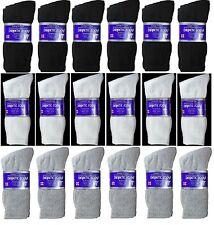 12 Pairs Mens Circulatory Diabetic Crew Socks Health Cotton 9-11 10-13 13-15