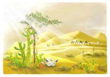 3D Wüste Illustration Fototapeten Wandbild Fototapete Bild Tapete Familie Kinder