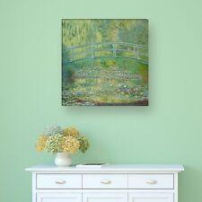 "WANDKINGS Leinwandbild Claude Monet - ""Seerosenteich und japanische Brücke"""