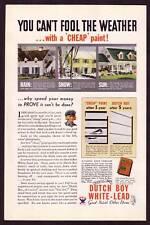1920s Old Original Vintage Dutch Boy Lead Paint Art Print Ad