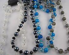 Glasperlen Perlen Schmuckset  Murano Stil Kette und  Armband Farbe wählbar