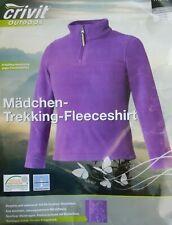 Crivit Outdoor Mädchen Trekkimg Fleeceshirt Gr. 110/116, 122/128, 134/140 neu