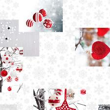 Wachstuch Tischdecke Weihnachten Schneeflöckchen C141251 eckig rund oval