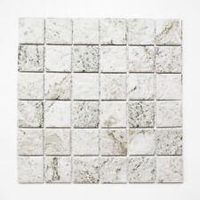 Mosaik Fliese Keramik Steinoptik Struktur hellgrau Küche 16-HWA4LG_f | 10 Matten