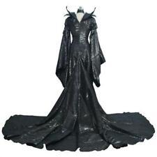 COSTYLY Halloween Maleficent Cosplay Costume Fancy Balck Dress Costume US Sexy