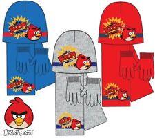 NUOVO Ragazzo Licensed Angry Birds Cappello Invernale Con Guanti e Sciarpa una taglia 4-8 anni