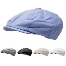 Applejack 8 Panel Newsboy Cotton Gatsby Hat Mens Ivy Cap Golf Summer Hat  Cabbie 64f540e4550b