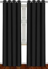 "Blackout Room Darkening Curtains Window Blinds 2 Panel Set 52x84"" Utopia Bedding"