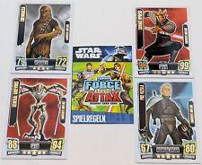 Force Attax Clone Wars Serie 2 – Force Meister, Star & lim. Karten aussuchen Neu