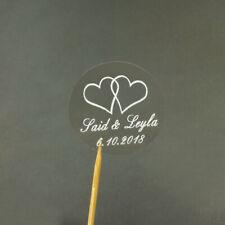 Personalised Wedding Transparent Love Stickers Favour/Cake Box/Bag/Seal 100pcs