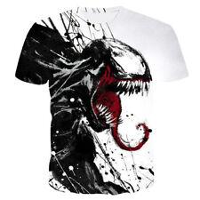 Comic Movie Venom Print 3D T-Shirt Women Men Casual Short Sleeve Tops Tee T21
