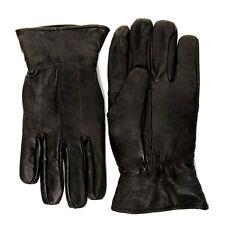 Negro de hombre guantes de Cuero calidad 100% Suave Flexible Conducción