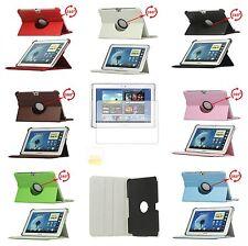 Leder Tasche für Samsung Galaxy Note 10.1 N8000, N8010 + Display Schutzfolie
