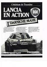 PUBLICITE ADVERTISING 1981 LANCIA  CHARDONNET   CRITERIUM DE TOURAINE   DARNICHE