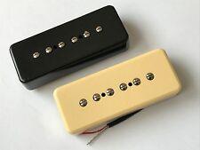 ARTEC P90 SOAP BAR PICKUPS Cream or Black Alnico V Magnets ASA90 Neck or Bridge