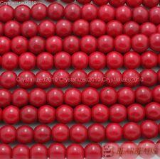 Red Howlite Turquoise Gemstone Round Beads 16'' Strand 4mm 6mm 8mm 10mm 12mm