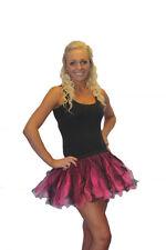 Black flo cerise fluo tutu jupe fun années 80 déguisement enterrement vie jeune fille soirée entre filles