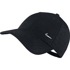 En métal Nike Swoosh Homme Sports Casquette Baseball Chapeau Réglable Gym Course Golf Noir
