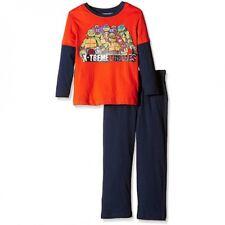 TURTLES pyjama garçon TORTUES NINJA 3 4 6 ou 8 ans orange et bleu NEUF
