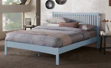 Hevea Hard Wood Bed Frame HONEY OAK Finish, OPAL WHITE or GREY Finish Bedstead