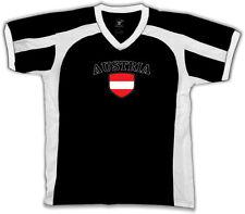Austria Flag Crest Austrian National Country Pride Retro Sport T-shirt