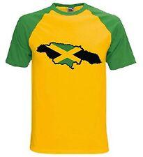 JAMAICAN FLAG T-SHIRT - Reggae Rasta Bob Marley Jamaica Bobsled - Sizes S-XXL