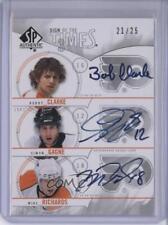 2009-10 SP Authentic #ST3-CGR Simon Gagne Mike Richards Bobby Clarke Auto Card