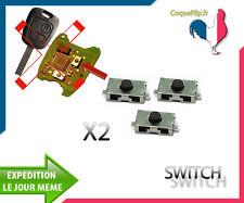 2X Bouton Switch Citroen pour Télécommande clé Plip Citroën