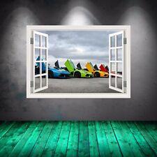 Full Colour Super Car Lamborghini Window Wall Art Sticker Graphic Print WSDW33