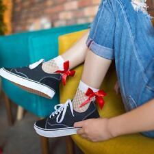 Fashion Cute Women's Harajuku Black Mesh Short Ankle Socks Grid Fishnet Docks GA
