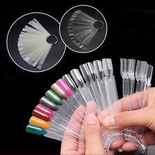 50x Nail Art False Nail Tips Polish Palette Practice Fan Color Sticker Display