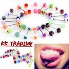 20/10Pcs Multi Tongue Tounge Nipple Ear Ring Bar Barbell Body Piercing Jewelry