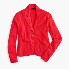 NWT Designer J.CREW Merino Wool Cropped Sweater Blazer  Belvedere Red 14/L