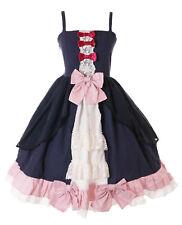 JL-688 Blau Rose Schleifen Rüschen Classic Gothic Lolita Kleid Kostüm Cosplay