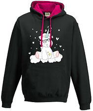 Capucha eatshirt Sudadera Con Suéter De Mujer DULCE unicornio Cutie gafas