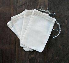 25 (4x6) Cotton Muslin Drawstring Bags Bath Soap Herbs