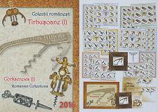 Rumänien 2016 Korkenzieher,Corkscrew Mi.7138-43,Zf,K,KB,Block 684 I,684 II,FDC