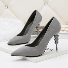 decolte stiletto 10 cm eleganti grigio  rocchetto eleganti  simil pelle 9903