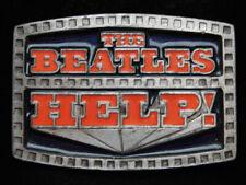 OG09169 VINTAGE 1996 **THE BEATLES HELP!** ROCK N ROLL MUSIC NOVELTY BELT BUCKLE