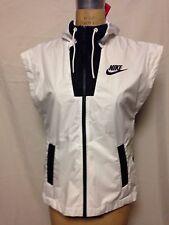Nike Women's Sportswear Tech Hypermesh Hooded Vest S White/Black NWT