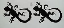 2 x Lizard Gecko Vinyl Decal Stickers Skateboard Ski Snowboard Ibiza Card JDM