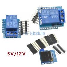 WeMos D1 Mini Wifi 1CH Relay Shield 0.66 inch OLED I2C 5/12V for ESP8266 Arduino
