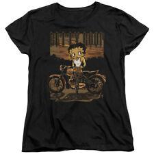 Betty Boop Cartoon Rebel Rider Women's T-Shirt Tee