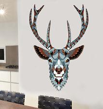 ORNATA Stags HEAD Wall art Adesivi in Vinile DEER Stag Foresta Woodland Decalcomania