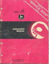 John Deere 340 Disk Service Shop Copy Operators Manual