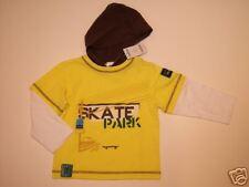 NWT Gymboree Skate Park Yellow Hoodie Tee Shirt 3 3T