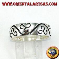 Anillo anillo de compromiso de plata 925 ‰ triskell triskelion grabado a mano