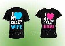 Couple T Shirt - Husband and Wife Shirt - I love my Crazy Husband Wife Tee
