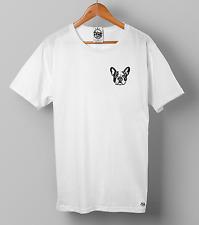 FRENCH BULLDOG T-SHIRT -  PRINT POCKET- VINTAGE PRINT - PEAK CLOTHING - UNISEX