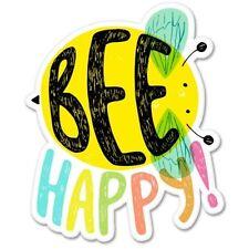 Bee Happy Cute Car Vinyl Sticker - SELECT SIZE